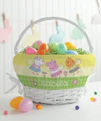 peppa pig spring personalized basket