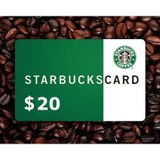 20 starbucks gift card