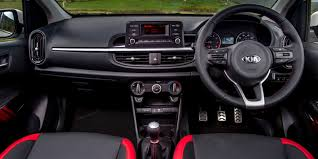 2018 kia picanto review. wonderful picanto midrange gtline trim cars get aluminium trims twotone leather  upholstery sporty metal pedalsu2026 and an ugly infotainment screen with 2018 kia picanto review