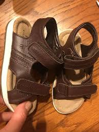 details about polo ralph lauren toddler boys brown leather sandals sneakers shoes 7