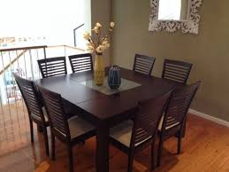 brown 8 seater dining table set