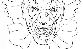 Small Picture Scary Clown Coloring Pages Coloring Pages Ideas Reviews