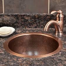 star undermount hammered copper bathroom