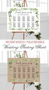 Green Wreath Foliage Greenery Botanical Wedding Seating