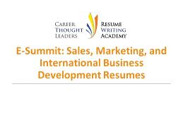 Development Resumes E Summit Sales Marketing International Business Development Resumes
