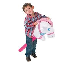 10 Pcs/Set Pink Horsehead <b>Inflatable</b> Stick Ride on Animal Toys For ...