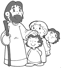 Small Picture Jesus And Children Coloring Page chuckbuttcom