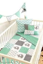 Mint Green Nursery Bedding Uk Baby Sets Elephant Crib