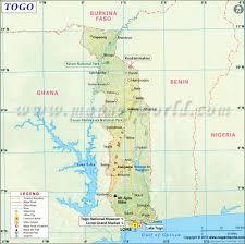togo map  map of togo