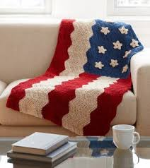 American Flag Crochet Pattern New American Flag Afghan AllFreeCrochet