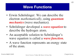 schrödinger developed a wave equation to describe the hydrogen atom an acceptable solution to schrödinger s wave equation is called a wave function