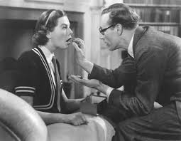 pyg on play by shaw com wendy hiller as eliza doolittle and leslie howard as henry higgins in the 1938 film version