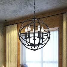benita 5 light antique black metal strap globe chandelier black metal globe pendant light lighting fixtures