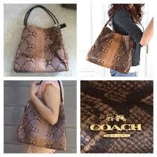 Authentic Coach Madison phoebe snake skin purse