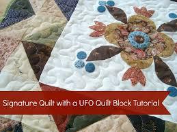 Signature Quilt Tutorial {52 UFO Quilt Block} - & Use ufo quilt blocks to make a signature quilt. #wedding gift #quilt # Adamdwight.com