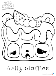Cute Num Noms Coloring Pages Free Printable Coloring Pages