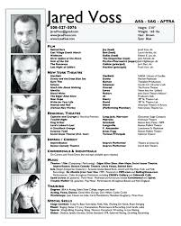 Resume Template For Actors Resume Template For Actors Model Actor