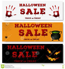 halloween sale flyer set of halloween horizontal banners design of the flyer with