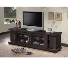 tv cabinet with doors. baxton studio vega contemporary 70-inch dark brown wood tv cabinet with 2 glass doors tv i