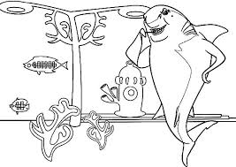 Small Picture Don Lino the Great White Shark from Shark Tale Coloring Pages