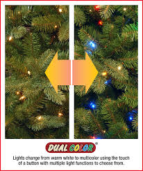 Dual Led Light Christmas Tree National Tree 7 5 Foot Dunhill Fir Tree With 700 Dual Led