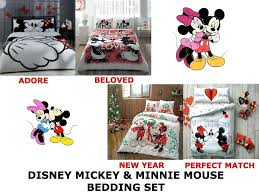 mickey and minnie bedding mickey mouse double queen size duvet quilt cover bedding set mickey minnie