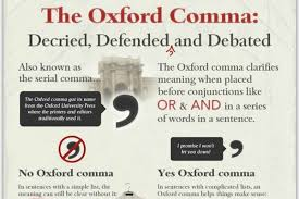 when is a comma used infographic the oxford comma debate articles home