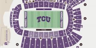Tcu Stadium Map Tcu Football Stadium Map Texas Usa