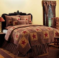 stunning vintage star wine bedding collection by ihf home decor classic wine and tan plaids with stars makeup this beautiful quilted bedding collection