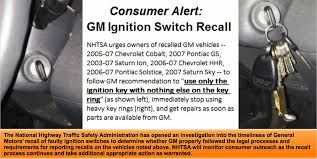 gm ignitions switch recall slide from safer car gov use only the ignition key