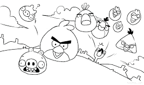 Angry Bird Images To Color X6940 Angry Birds Color Pages Kids