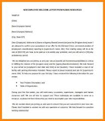 wel e letter to new employee free new employee wel e letter from human resources template