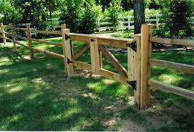 farm fence gate. Cedar Split-Rail Fence With A Double Farm Gate Farm Fence Gate