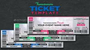 Free Concert Ticket Template Unique Concert Ticket Template Word Event Tickets Free Download