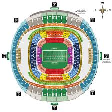 Superdome Seating Chart With Row Numbers Mercedes Benz Superdome New Orleans La Seating Chart View