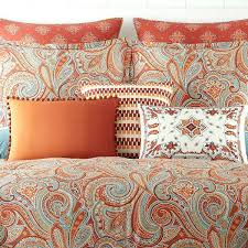 king size comforter set orange burnt