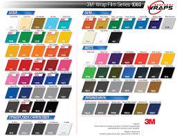 Vinyl Wrap Color Chart 3m Vinyl Car Wrap Color Chart