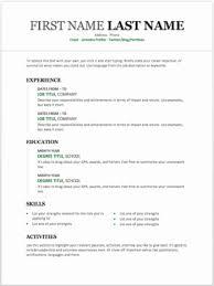 Basic Resume Template Word Beautiful Simple Resume Format Download