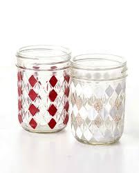 Jam Jar Decorating Ideas DIY Gingham Mason Jars Martha Stewart 19