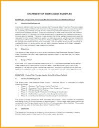 Scope Of Work Template Consulting Statement Of Work Sample