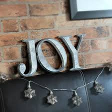 joy wall letters distressed silver