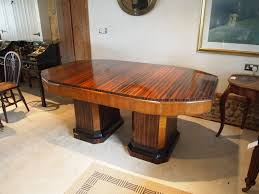 zebrawood furniture art deco dining table high