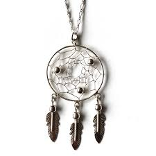 Mexican Dream Catcher Silver Dreamcatcher Necklace Voodoo Jewellery 85