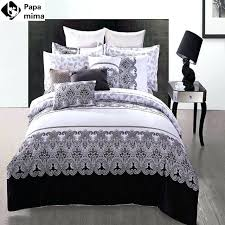 black and white striped duvet cover set see larger image black and white full duvet cover
