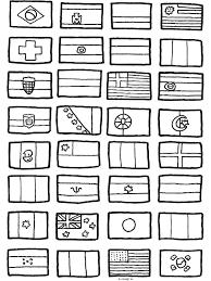 Kleurplaat Wk 2014 Vlaggen Landen Kleurplatennl Thema Vlaggen