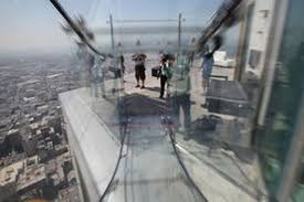 los angeles 1 000 foot high glass slide opens today las vegas review journal