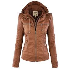 faux leather jacket womens