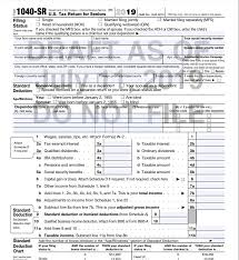 Although there is a standard form template, its variations can be changed according to the. Irs Drafts Tax Return For Seniors Updates 1040 For 2019 Accounting Today