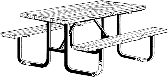 table clipart black and white. picnic table clip art clipart black and white l