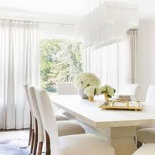 alyssa rosenheck white rectangular tiered chandelier with modern dining table blue and white dining room ideas e88 ideas